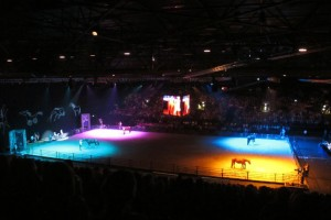 Sally Brett at the Parelli Natural Horsemanship Demo at NEC, Birminham