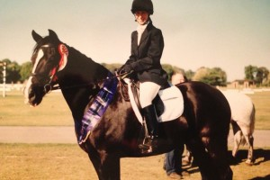 Sally Brett - Winning her class at the Riding Club National Championships