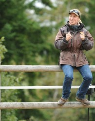 Sally Brett Horsemanship Instructor teaching